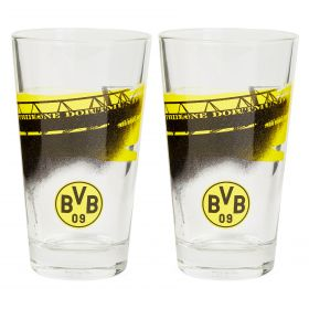 BVB South Stand Water Glass - Set of 2