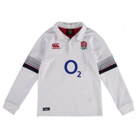 England Rugby Vapodri Home Classic Shirt 2017-18 - Long Sleeve - Kids