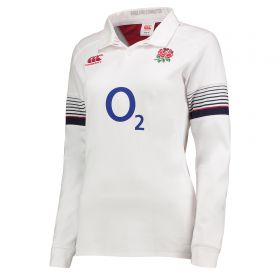 England Rugby Vapodri Home Classic Shirt 2017-18 - Long Sleeve - Womens