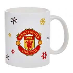 Manchester United Christmas Let It Snow Mug