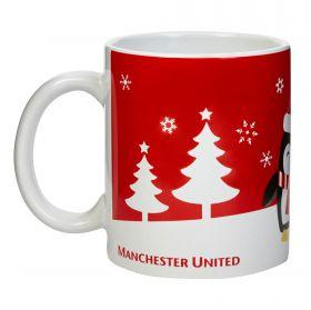 Manchester United Christmas Penguin Mug