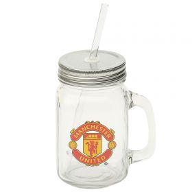 Manchester United Mason Jar