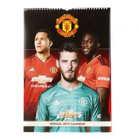 Manchester United Official 2019 A3 Calendar