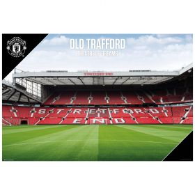 Manchester United Old Trafford Poster - 61 x 92cm