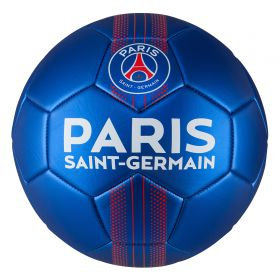 Paris Saint-Germain Crest Metallic Football - Size 1