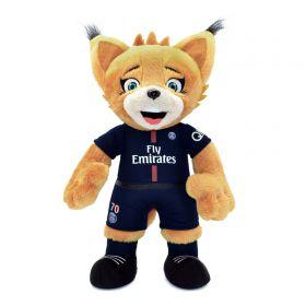Paris Saint-Germain Poupluche Germain le Lynx Mascot - 2017-18 Soft Toy