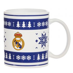 Real Madrid Christmas Snow Flake Fair Isle Mug