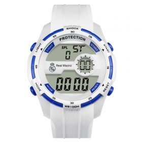 Real Madrid Digital Watch - White