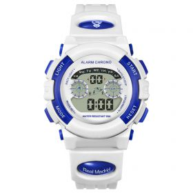 Real Madrid Digital Watch - White - Junior