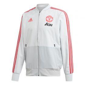 Manchester United Training Presentation Jacket - Grey
