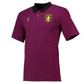 Aston Villa Cotton Team Polo - Purple