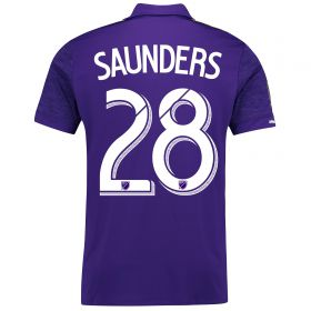 Orlando City SC Home Shirt 2017-18 with Saunders 28 printing