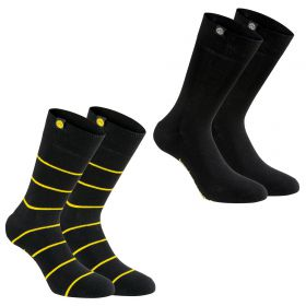 BVB 2 PK Socks - Black - Adult