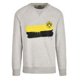 BVB Colour Stripe Sweatshirt - Grey - Mens