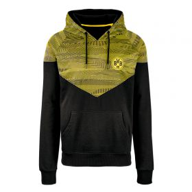 BVB Contrast Colour Hoodie - Black/Yellow - Junior