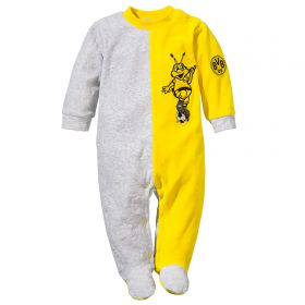 BVB Contrast Colour Romper - Grey/Yellow - Baby