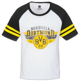 BVB Contrast Sleeve T-Shirt - Black/White - Boys