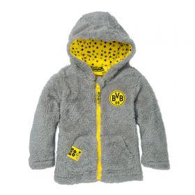 BVB Fleece Teddy Jacket - Grey/Yellow - Infant