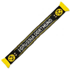 BVB Knitted Crest Scarf - Black - Adult