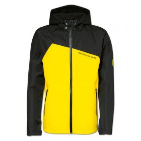 BVB Panelled Rain Jacket - Black/Yellow - Boys