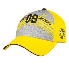 BVB Stripe Front Cap - Yellow/Grey - Adult