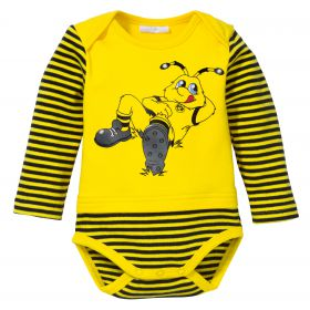 BVB Striped Character Bodysuit - Yellow - Baby