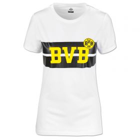 BVB Striped Chest T-Shirt - White - Womens