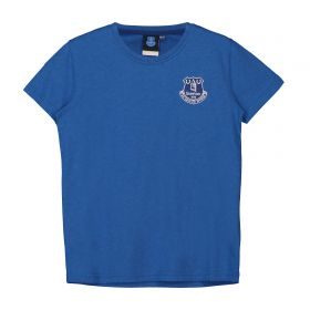 Everton Core Crest T-Shirt - Royal Marl - Kids