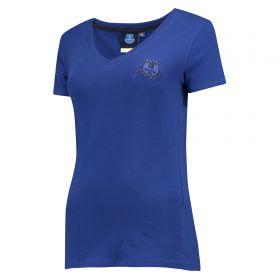 Everton Essential V T-Shirt - Royal - Womens