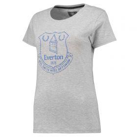 Everton Ladies Printed T-Shirt - Grey Marl - Women