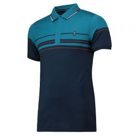 Everton Terrace Varied Stripe Polo Shirt - Navy - Mens