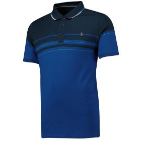 Everton Terrace Varied Stripe Polo Shirt - Royal - Mens