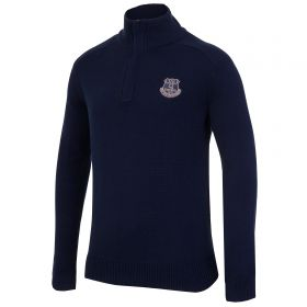 Everton Tonal Funnel Neck Top - Navy