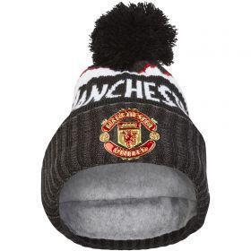 Manchester United New Era Jake Knit Bobble Hat - Black - Adult