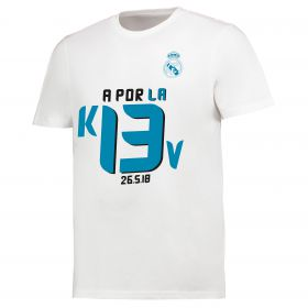 Real Madrid Special Edition Road to Kiev T-Shirt - White - Mens