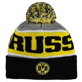 BVB Knitted Beanie Hat - Grey/Black - Adult