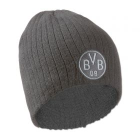 BVB Knitted Crest Hat - Grey - Adult