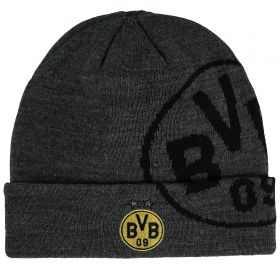 BVB Oversized Text Beanie Hat - Black/Yellow - Adult