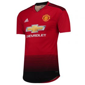 Manchester United Home Authentic Shirt 2018-19 with Solskjaer 20 printing