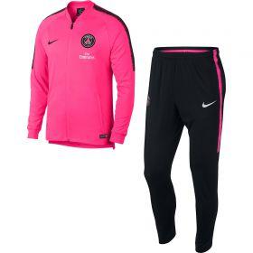 Paris Saint-Germain Squad Tracksuit - Pink