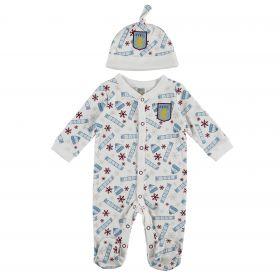 Aston Villa Baby Christmas Sleepsuit - Multi - Unisex