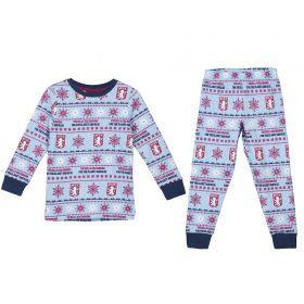 Aston Villa Fairisle Christmas PJs - Sky/ Claret/ Navy -Kids