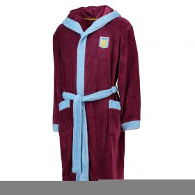 Aston Villa Fleece Robe - Claret / Sky - Mens