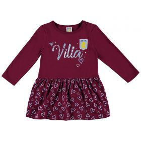Aston Villa Infant Love Villa Dress - Claret - Girls