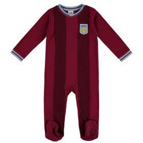 Aston Villa Kit Sleepsuit - Claret - Baby