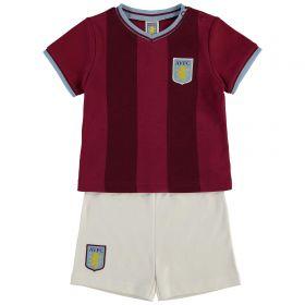 Aston Villa Kit T-Shirt / Short set - Claret/White - Baby