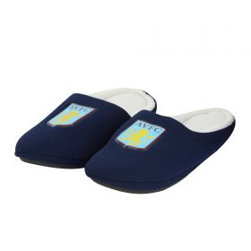 Aston Villa Mule Style Slipper - Navy - Mens