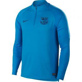 Barcelona Squad Drill Top - Blue