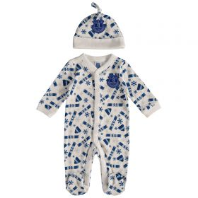 Everton Baby Christmas Sleepsuit - White - Unisex