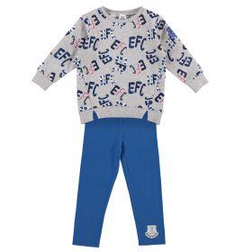 Everton Infant AO Print T & Legging Top Set - Multi - Girl